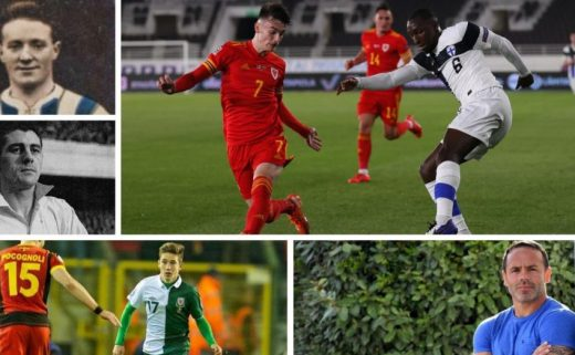 A Wales Eleven of players who made their international debut before their league debut