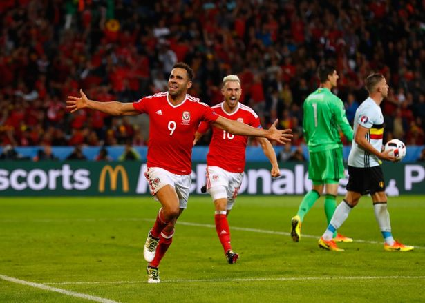 Hal Robson-Kanu scores with a Cruyff turn against Belgium at Euro 2016