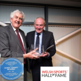 Terry Yorath being iinducted into the Welsh Sports Hall of Fame